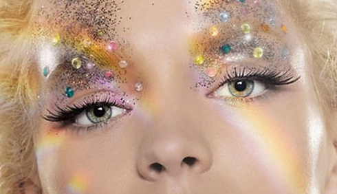 Make-up con glitter per il Natale 2011