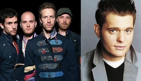 Fiorello ospita Coldplay e Michael Bublé stasera