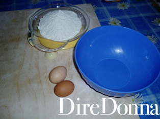 Ingredienti per le Fettuccine