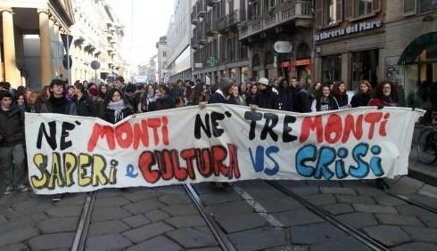Mario Monti, gli studenti non si fidano