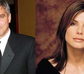 "George Clooney e Sandra Bullock affiatati in ""Gravity"""