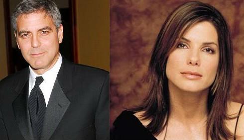 George Clooney e Sandra Bullock affiatati in