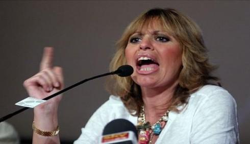 Alessandra Mussolini insulta Gianfranco Fini