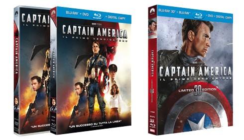 Captain America: Blu-Ray, 3D e DVD per Natale 2011