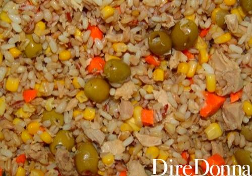 Cereali con mais, carote e olive