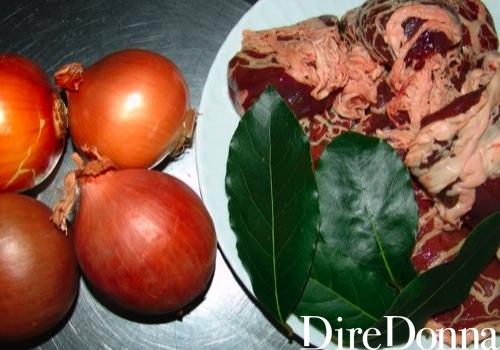 Cipolle e fegatini a crudo