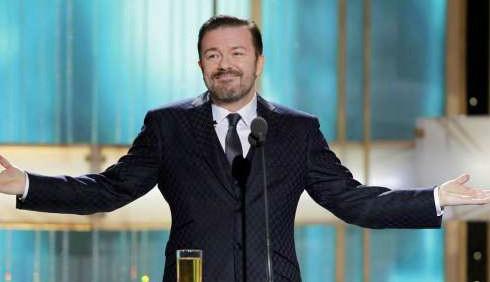 Golden Globe: Ricky Gervais contro Kim Kardashian e Justin Bieber