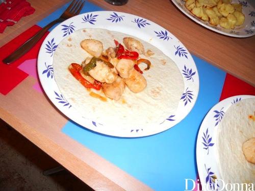 Fajitas sul piatto