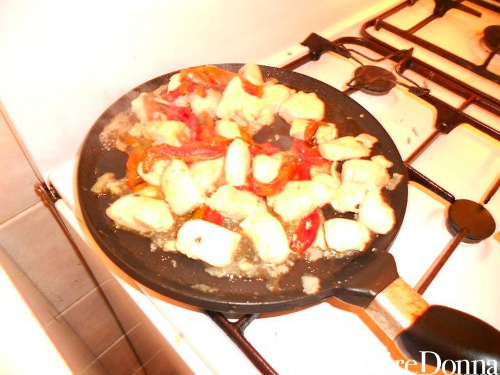 Fajitas pollo peperoni