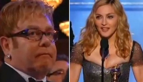 Elton John e David Furnish ritrattano su Madonna