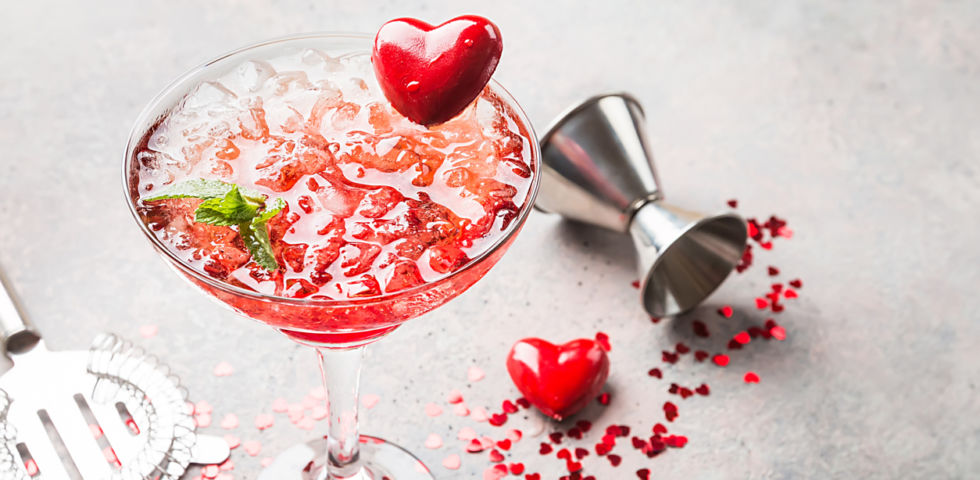 San Valentino: l'aperitivo romantico in casa