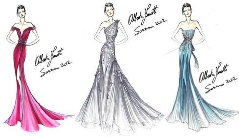 Sanremo 2012: Alberta Ferretti stilista per Ivana Mrazova