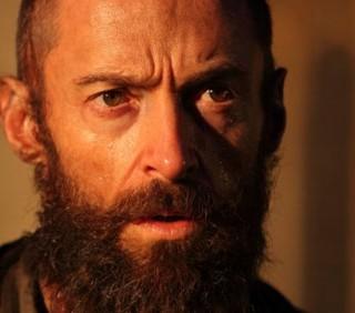 """I Miserabili"": Hugh Jackman invecchiato e barbuto"