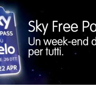 SKY Free Pass: SKY gratis oggi e domani su Cielo