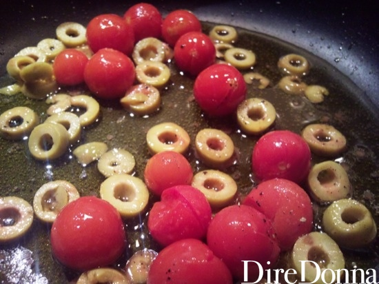 Pomodorini e olive