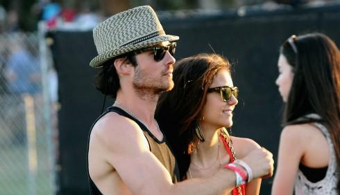 Ian Somerhalder e Nina Dobrev sexy al Coachella