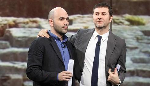 Fabio Fazio e Roberto Saviano su La7 con