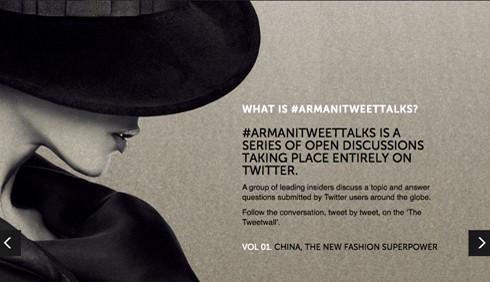 Armani: con Tweet Talks la moda conquista il web
