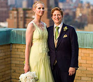 Cynthia Nixon, Miranda di Sex And The City, sposa la compagna