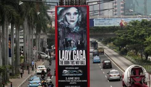 Lady Gaga, concerti vietati in Indonesia