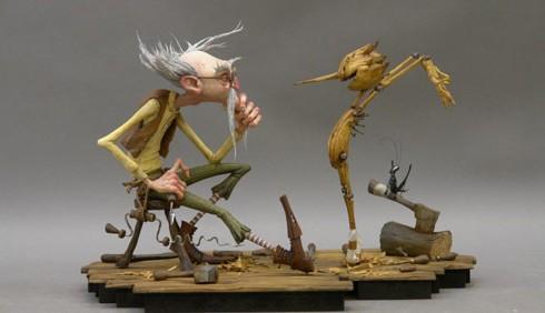 Guillermo Del Toro dirige Pinocchio in stop motion
