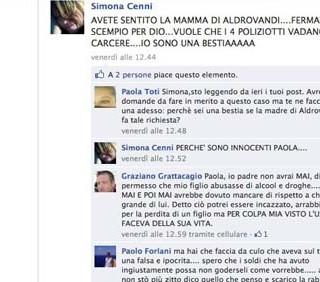 Federico Aldrovandi: poliziotto condannato insulta la mamma