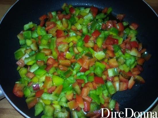 Peperoni tagliati