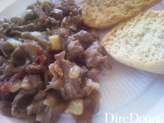 Ricetta straccetti con peperoni e patate