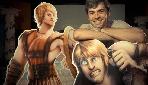 Gladiatori di Roma: Belen Rodriguez e Luca Argentero al doppiaggio