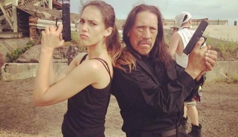 Machete Kills: foto di Jessica Alba sul set