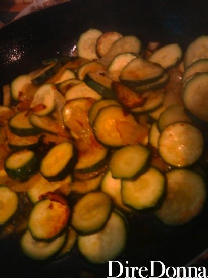 Zucchine e cipolla