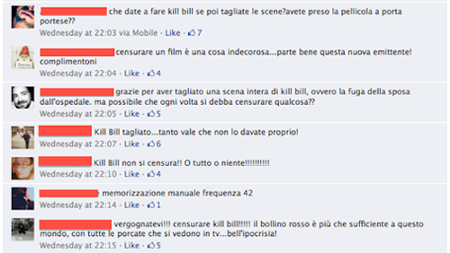 Mediaset censura Kill Bill