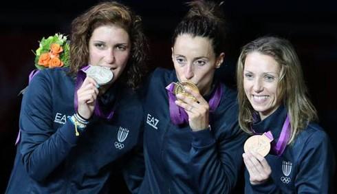 Olimpiadi 2012: primo podio azzurro nel fioretto donne