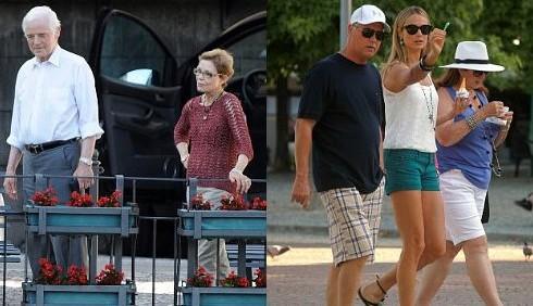 George Clooney e Stacy Keibler: vacanze con i genitori