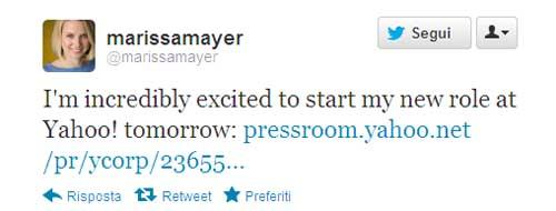 Marissa Mayer - tweet