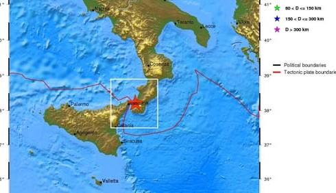 Terremoto a Messina e in Campania