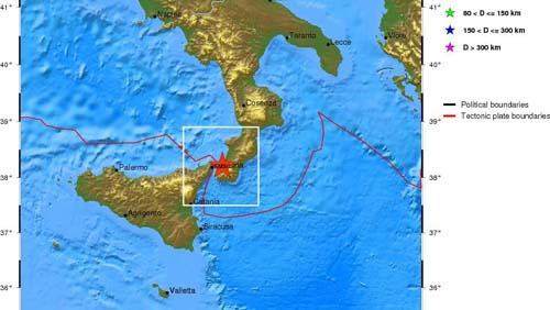 Terremoto a Messina e in Campania