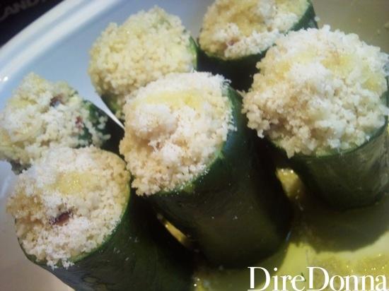 Zucchine con cous cous dentro