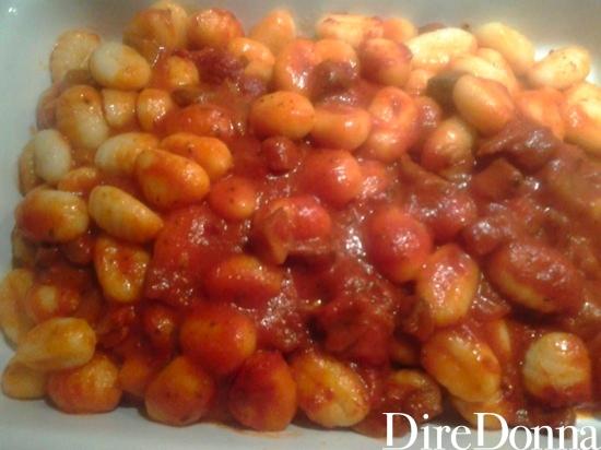 Gnocchi conditi con pomodoro