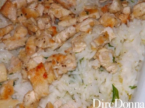Risotto con pollo e basilico