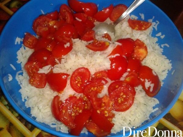 Riso con pomodorini