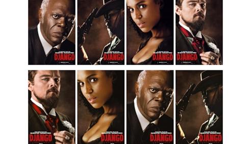 Django Unchained, i poster dei personaggi