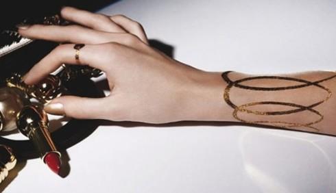 Con Dior arrivano i tatuaggi a 24 carati