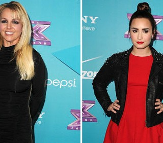 Britney Spears e Demi Lovato al party di X-Factor, foto