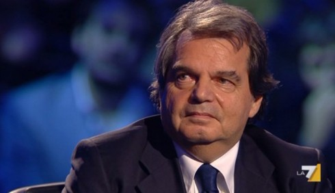 Servizio Pubblico: scontro tra Renato Brunetta e Michele Santoro