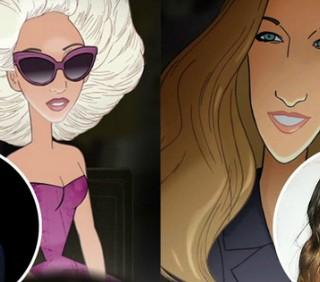 Lady Gaga e Sarah Jessica Parker diventano un cartone animato
