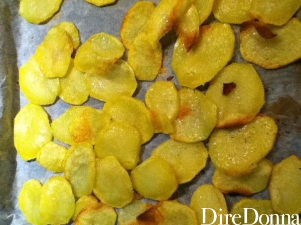 Patate con pangrattato pronte
