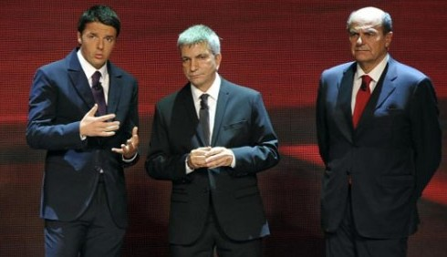 Matteo Renzi e Pier Luigi Bersani a Che Tempo Che Fa
