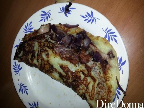 Pancake di patate con bacon e cipolla
