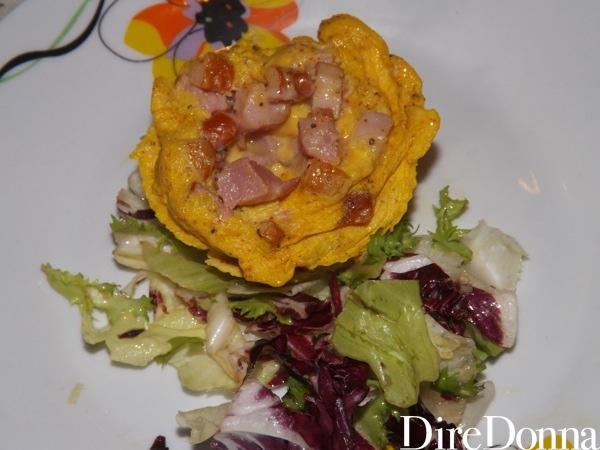 Sformato uovo curry e pancetta